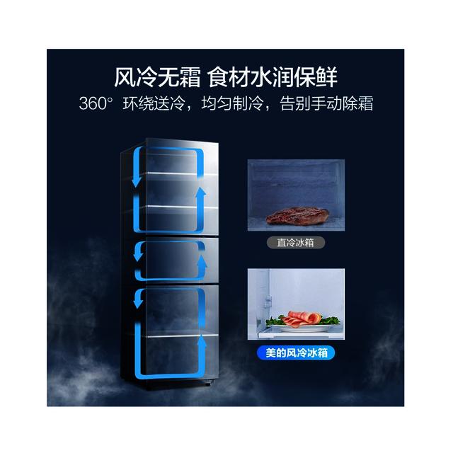【三温三控】247L三门冰箱 风冷无霜节能 宽幅变温BCD-247WTM(E)