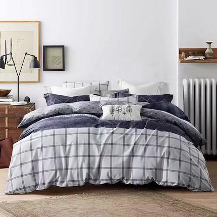 梦洁家纺 美的 床上用品 纯棉印花四件套:天天 适用于1.5米床 200*230的被芯