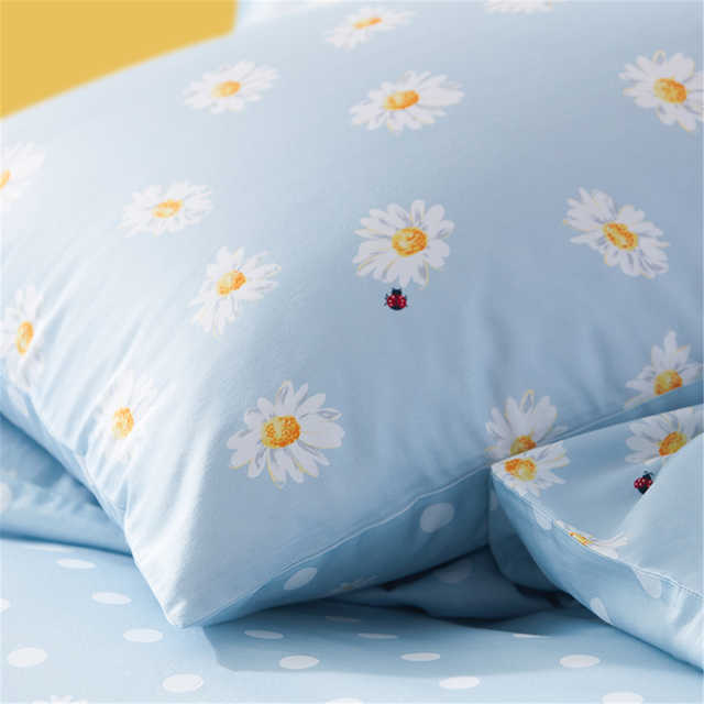 床上用品 纯棉印花四件套:波尔卡知夏(蓝) 150*200