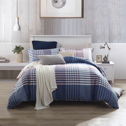 梦洁家纺 美的 床上用品 纯棉印花四件套:律动青春 适用于1.5米床 200*230的被芯