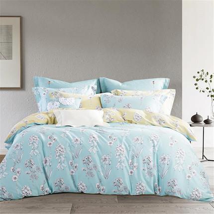 梦洁家纺 美的 纯棉印花四件套:拾雅 适用于1.8米床 248*248的被芯