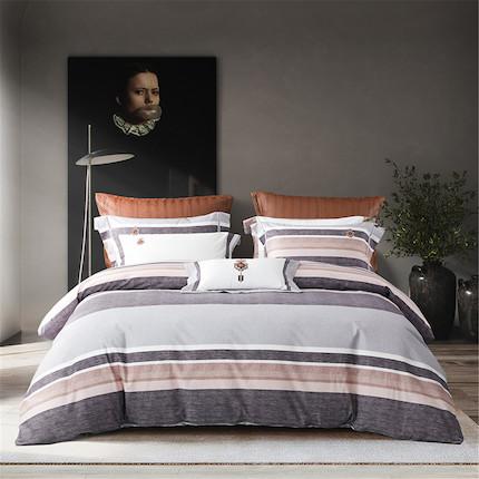 梦洁家纺 美的 纯棉印花四件套:沙秋 适用于1.8米床 248*248的被芯