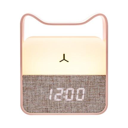 美的拾夕小夜灯(猫咪升级款) 闹钟 便携手提 樱花粉 MTD3-M/K-03