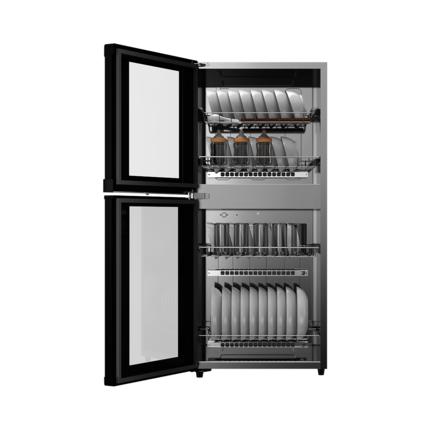 【餐馆家庭推荐】消毒柜 100L大容量  优雅黑外观 上下双层 ZLD-100JL09