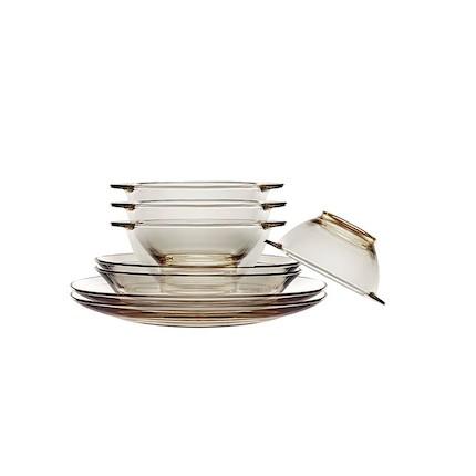 【康宁】茶色餐具8件组成品(黄盒)