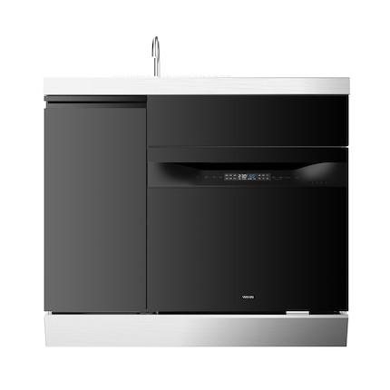 华凌【一体嵌入式】水槽洗碗机 8套 不锈钢水龙头 热风烘干 WIFI智控 高端简约 XH03