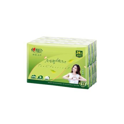 纸品清洗 心相印茶语丝享系列72包超迷你四层纸手帕