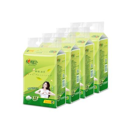 纸品清洗 心相印茶语丝享系列12包150抽三层装纸面巾