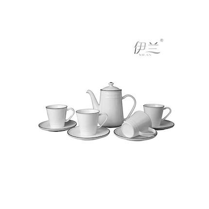 【香港伊兰】蓝色之恋-简约美饮九件套茶具