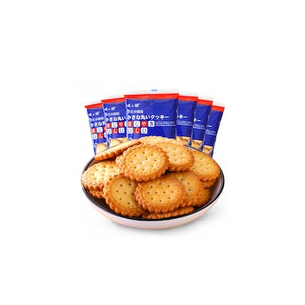 【暖小糖】日式小圆饼(奶盐味)400g/箱  零食 休闲食品