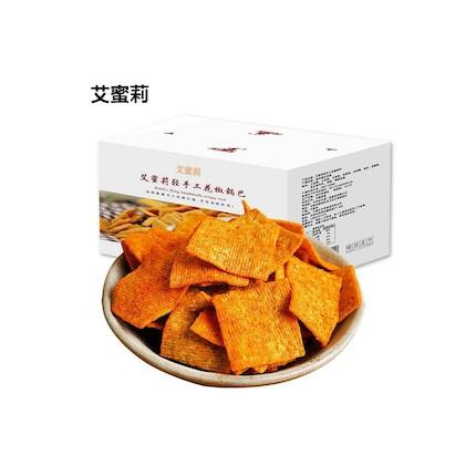 【艾蜜莉】轻手工花椒锅巴400g/箱  零食 休闲食品